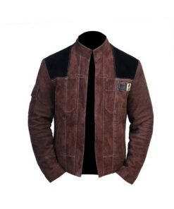 Solo A Star Wars Story Genuine Real Suede Brown Leather Jacket