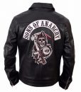 Sons Of Anarchy Black Biker Leather Jacket