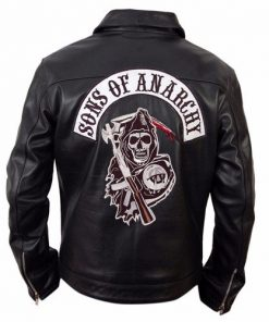 Sons Of Anarchy Black Biker Genuine Leather Jacket
