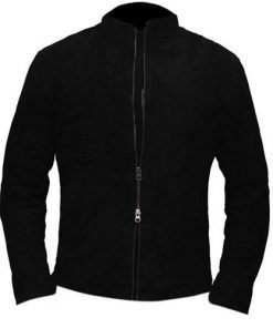 Spectre James Bond Black Genuine Suede Leather Jacket