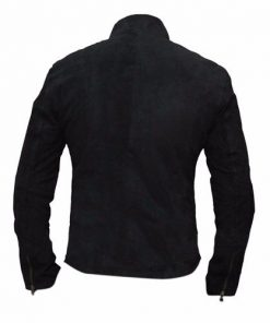 Spectre James Bond Black Suede Leather Jacket