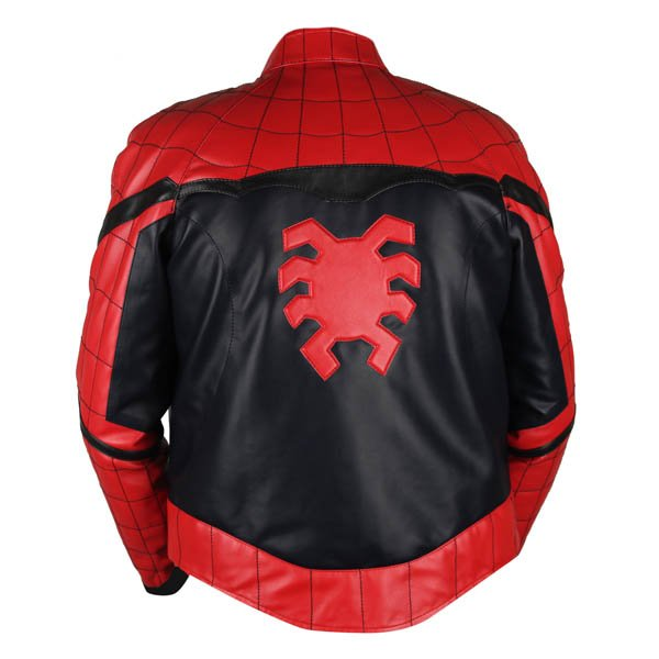 69c35ed0917 Spiderman Homecoming Red & Black Genuine Leather Jacket | Leather ...