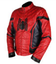 Spider-Man Homecoming Red & Dark Blue Leather Jacket 2