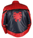 Spider-Man Homecoming Red & Dark Blue Leather Jacket 4
