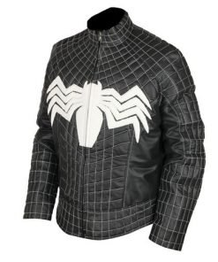 Spiderman Venom Black Faux Leather Jacket