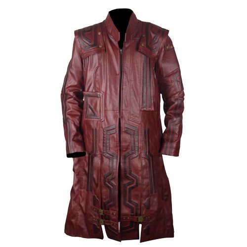Star Lord Faux Leather Coat Waxed