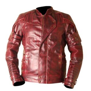 Star Lord Guardians Of The Galaxy Vol 2 Waxed Genuine Leather Jacket 1