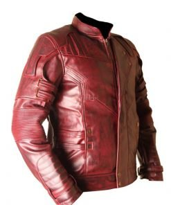 Star Lord Guardians Of The Galaxy Vol 2 Waxed Faux Leather Jacket
