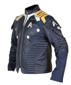 Star Trek Captain Kirk Blue Leather Jacket