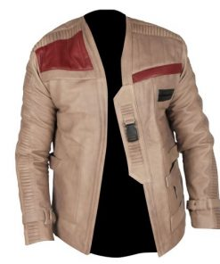 Star Wars Finn Waxed Genuine Real Leather Jacket