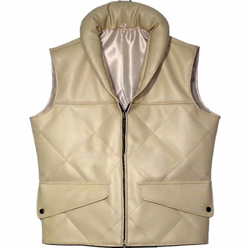 Princess Leia Star Wars Off White Faux Leather Vest