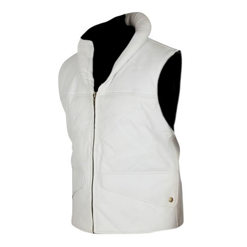 Princess Leia Star Wars White Genuine Real Leather Vest