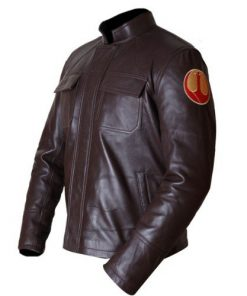 Star Wars Poe Dameron The Last Jedi Brown Genuine Real Leather Jacket