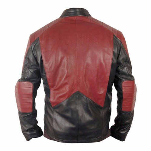 Superman Black & Red Leather Jacket