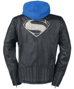 Superman Genuine Leather Jacket with Hoodie