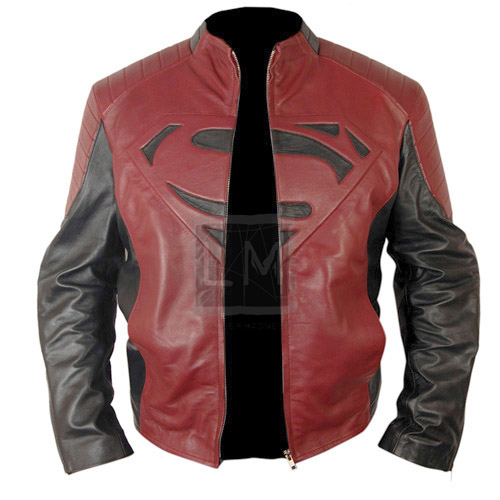 Superman Black And Red Leather Jacket | Leather Madness