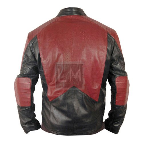 Superman Black And Red Faux Leather Jacket