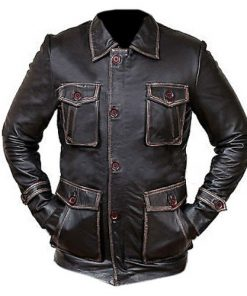 Supernatural Dean Winchester Distressed Brown Season 7 Genuine Real Leather Jacket