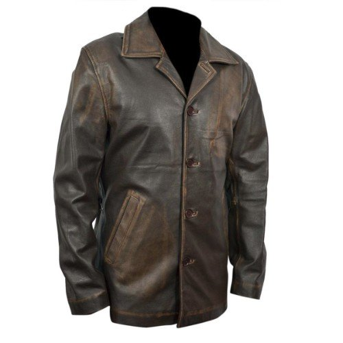 Supernatural Dean Winchester Distressed Brown Long Leather Jacket