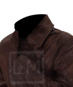 Supernatural Brown Distressed Genuine Leather Jacket