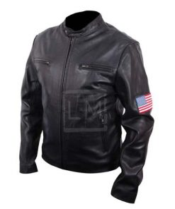 Swordfish Black Biker Leather Jacket