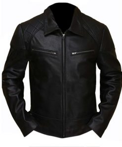 Terminator 5 Black Biker Faux Leather Jacket