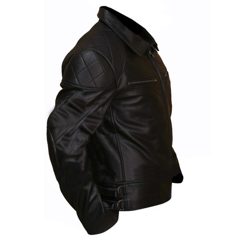 Terminator 5 Black Biker Leather Jacket