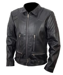 Terminator 3 T3 Black Biker Faux Leather Jacket