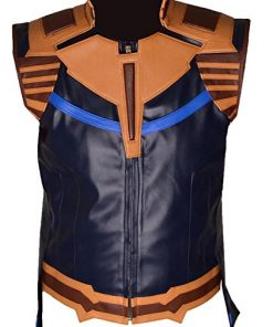 Thanos Faux Leather Vest