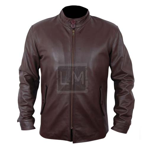 The Family Robert De Nero Brown Leather Jacket