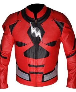 Justice League The Flash Red Faux Leather Jacket