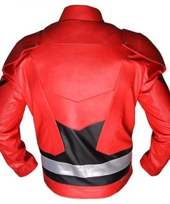 The Flash Justice League Faux Leather Jacket