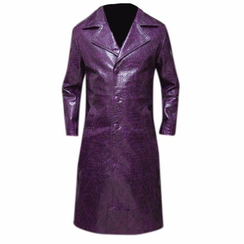 The Joker Faux Leather Coat Suicide Squad 1