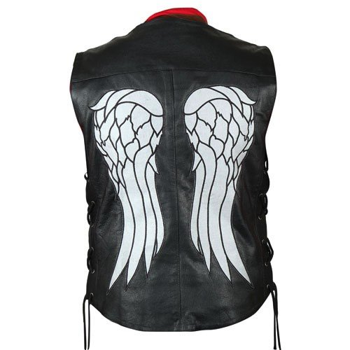 The Walking Dead Governor - Daryl Dixon Angel Wings Leather Vest