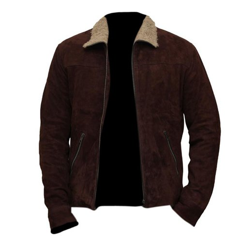 Walking Dead Rick Grimes Brown Suede Leather Jacket