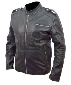 Iron Man 3 Tony Stark Black Cowhide Leather Jacket Robert Downey Jr
