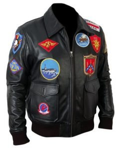 Top Gun Black Bomber Faux Leather Jacket