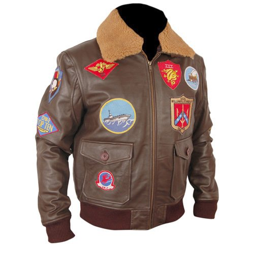 Top Gun Brown Bomber Faux Leather Jacket