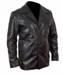 Training Day Denzel Washington Black Genuine Leather Jacket