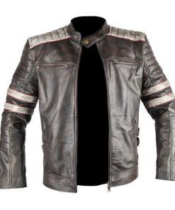 Vintage Black Biker Leather Jacket
