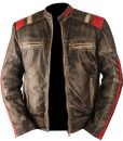 Vintage Retro Motorcycle Cafe Racer Moto Distressed Black Genuine Leather Jacket 5