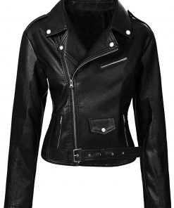 Women Riverdale Black Leather Jacket Southside Serpents