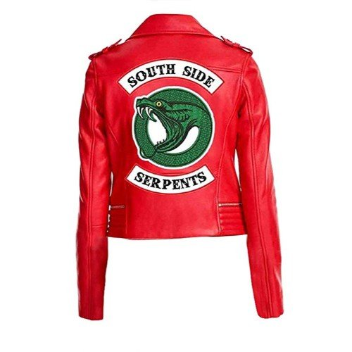 Women Riverdale Red Faux Leather Jacket Southside Serpents