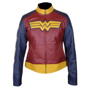 Wonder Woman Faux Leather Jacket 1-New