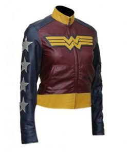 Wonder Woman Faux Leather Jacket Gal Gadot