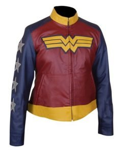 Wonder Woman Genuine Leather Jacket