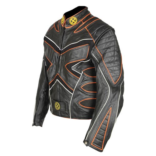 X Men 2 United Black Biker Genuine Real Leather Jacket