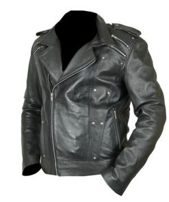 X Men Apocalypse Evan Peters Biker Leather Jacket