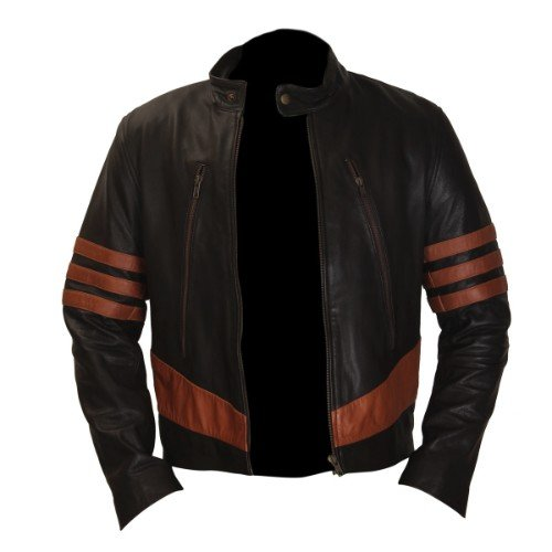 X Men Wolverine Brown Leather Jacket