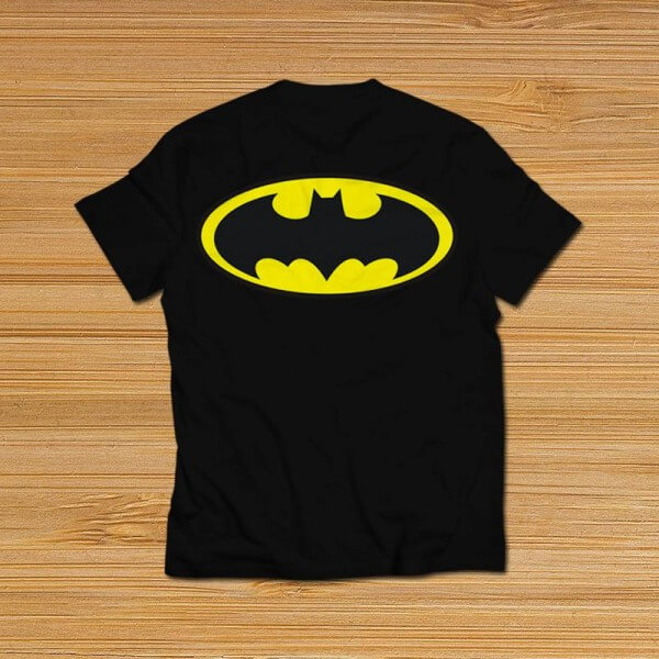 batman all over printed t-shirt black